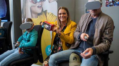 Karen Damen stelt virtual reality-app van brandweer voor