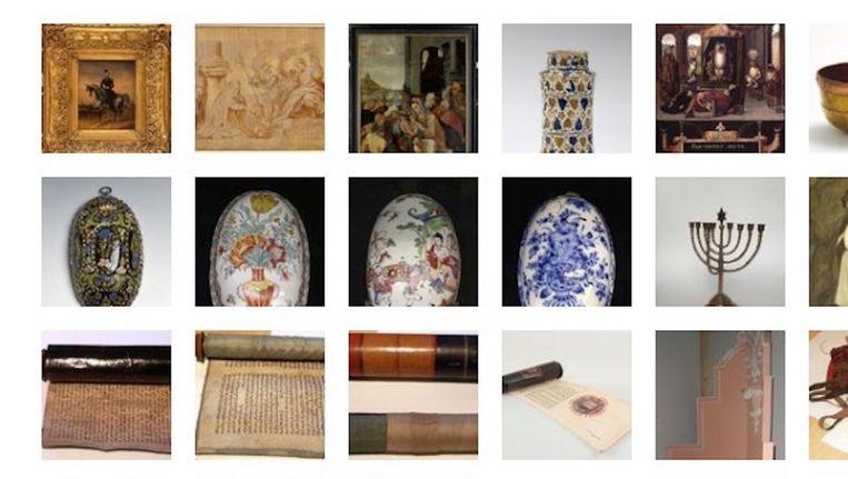 Een deel van de objecten die vermoedelijk zijn gestolen Beeld Museumvereniging