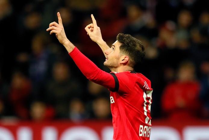 Lucas Alario was zeer belangrijk voor Leverkusen. Met twee goals lag hij aan de basis van de zege op Schalke 04.