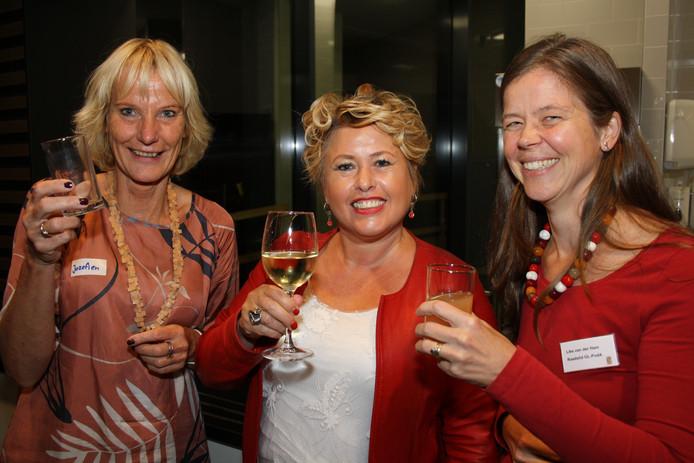 Jozefien Valk (Secretary in Projects), Paula de Boer (Pride & Proud PR en Communicatie) en Like van der Ham (raadslid GroenLinks-PvdA).