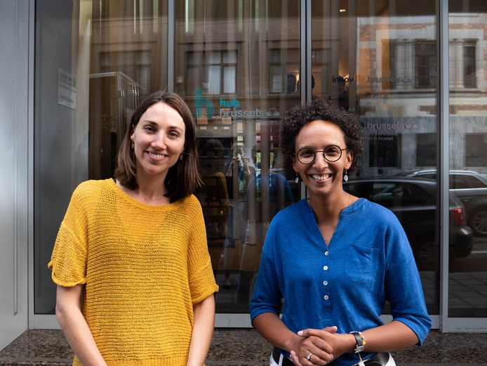 Barbara Trachte (Ecolo) en Isabelle Grippa (HUB.Brussels)