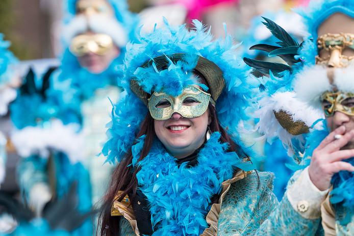Carnavalsoptocht in Herwen.