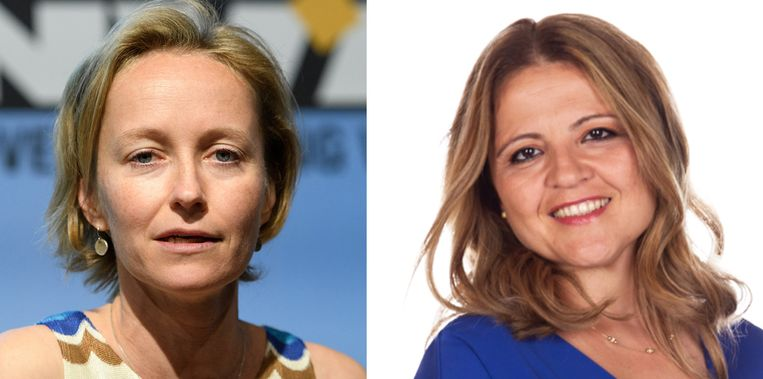 N-VA-kandidates Annick De Ridder en Sevilay Altintas.