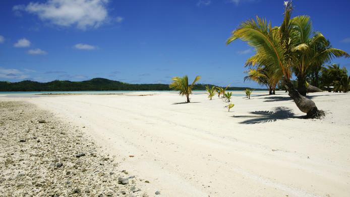 Het strand van Aitutaki. © THINKSTOCK