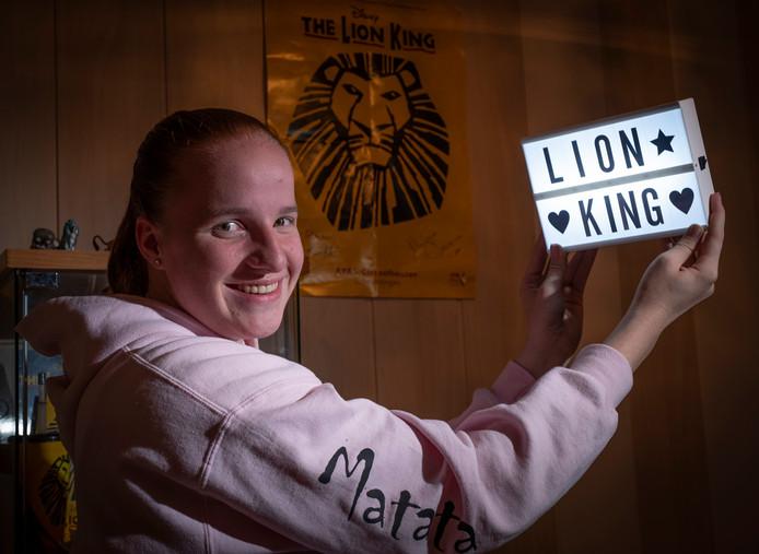 Quinty is groot fan van The Lion King. Ze ging al vijftig keer naar de musical in Scheveningen.