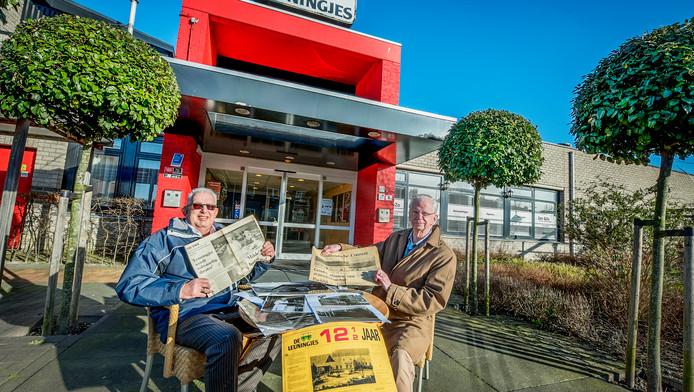 Archieffoto: Jos Vranken en Willem Scholtes bij de Leuningjes.