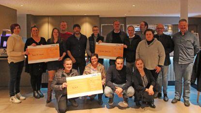 Zorgorganisatie de Vleugels verdeelt ruim 3.000 euro over drie goede doelen