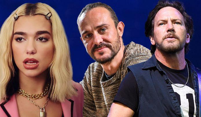Dua Lipa, Tijs Vanneste en Pearl Jam-zanger Eddie Vedder.