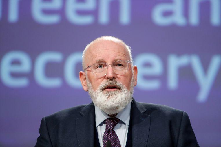 Eurocommissaris Frans Timmermans is de verantwoordelijk voor de Green Deal, het klimaatbeleid van Europa. Beeld REUTERS