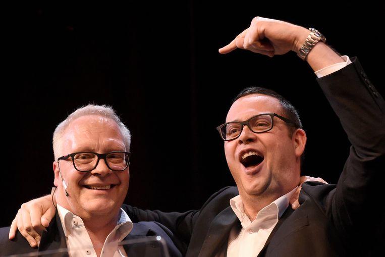 Peter Mertens en  Raoul Hedebouw.