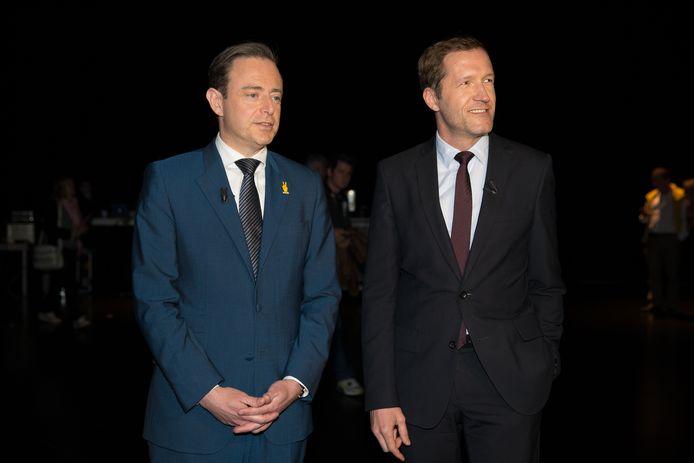 Bart De Wever en Paul Magnette tijdens een debat in 2014.