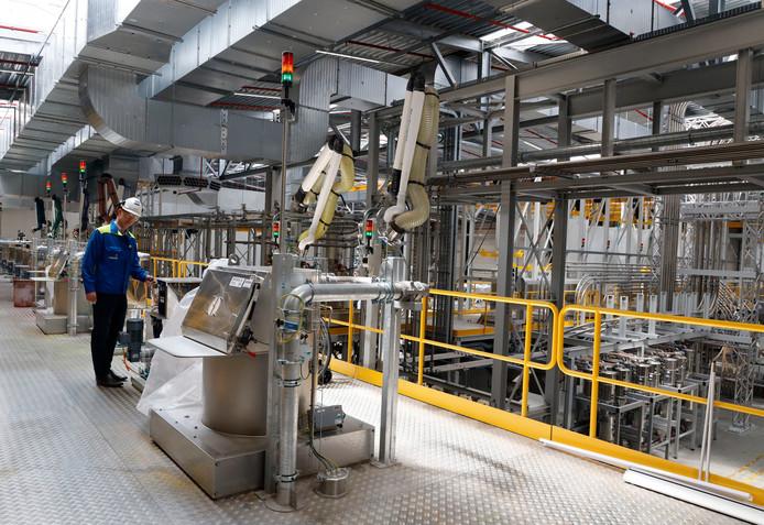 Volledig geautomatiseerde nieuwe fabriek van chemiebedrijf Trinseo in Terneuzen waarin gespecialiseerde kunststoffen worden gemaakt.