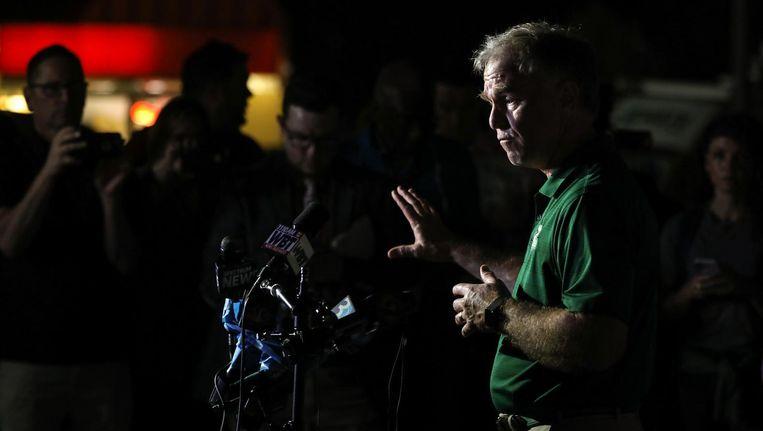 Politiechef Jeff Baker geeft de media een update na de schietpartij op de universiteit. Beeld ANP