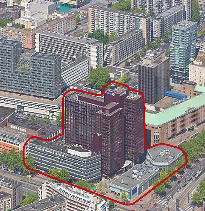 Op de plek waar nu kantoorcomplex Coolse Poort staat (en omgeving) moet een gigantische toren verrijzen.