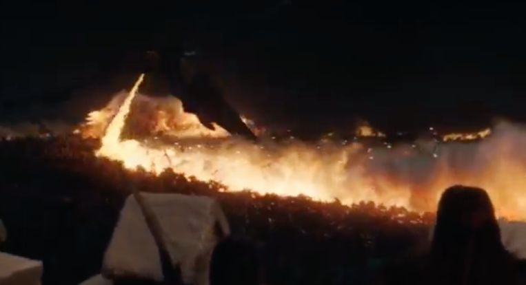 Het vuur van Drogon blijkt effectief tegen de Wights.