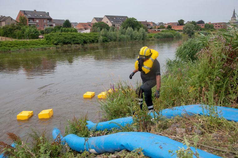 Archiefbeeld : Vorige zomer werd massaal water in het gebied gepompt om de knijten te verdelegen