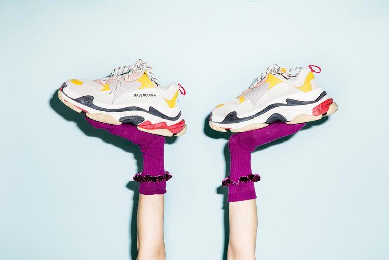 Dit zijn ze dan: De Triple S van Balenciaga. Beeld Lisa Klaverstijn & Marie Wanders