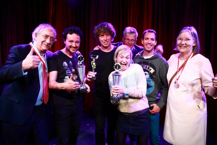 De winnaars van het 13e Utrechts Cabaretfestival.