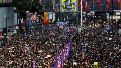 Honderdduizenden mensen op straat in Hongkong, vernielingen blijven beperkt