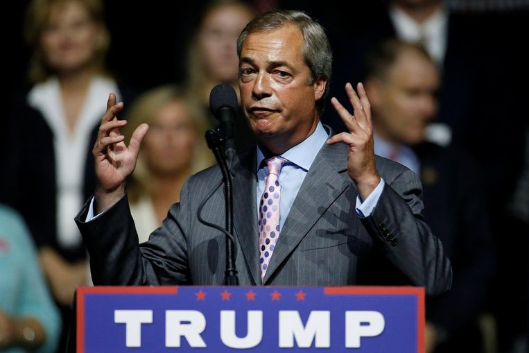 Nigel Farage in Jackson, Mississippi. Beeld reuters