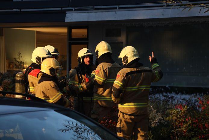 Felle brand verwoest meterkast van woning aan de Bernhardstraat in Sint-Oedenrode
