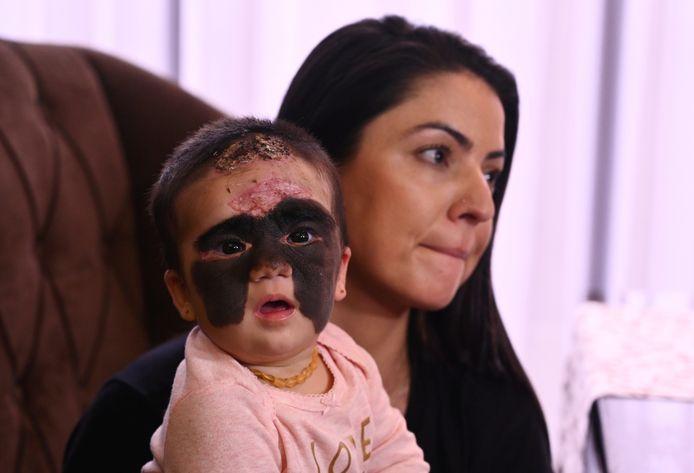 Carol Fenner et sa fille Luna à l'hôpital de Krasnoda, ce 30 novembre 2019