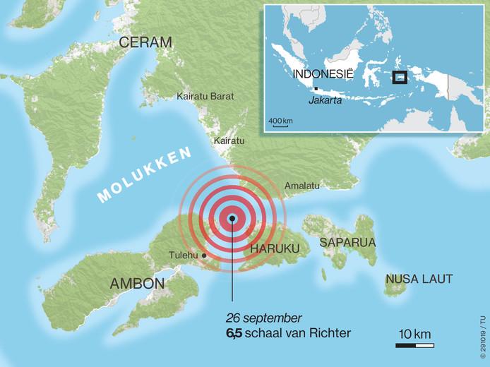 De Molukken werden eind september getroffen door een zware aardbeving.