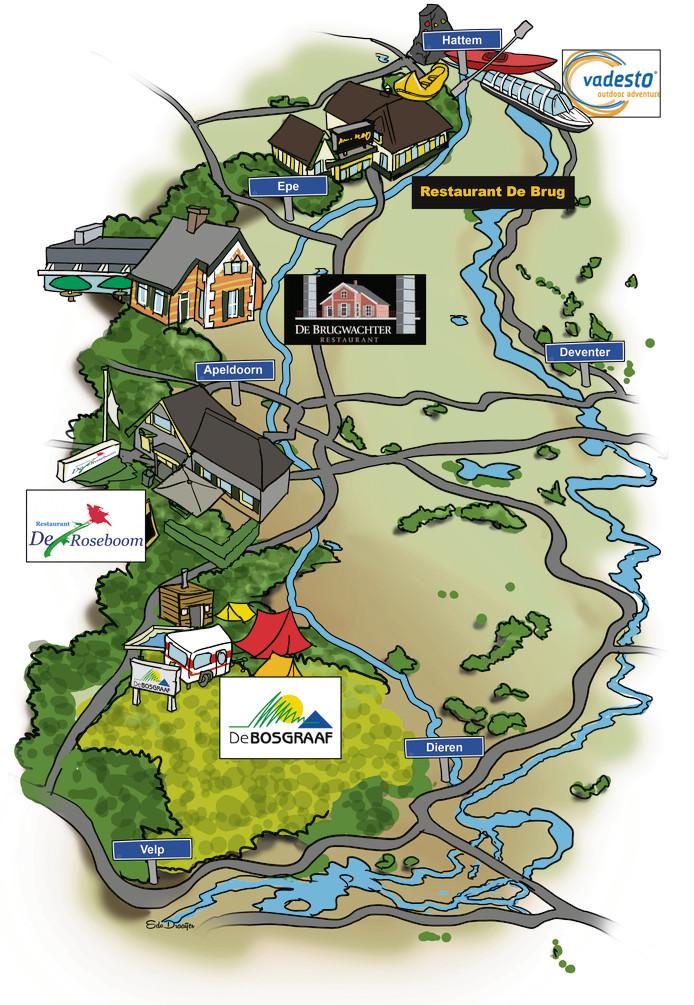 Verslaggever Paul Hartman trok over het Jaagpad van Dieren naar Hattem en meerde aan bij campings, restaurants en Vadesto in Hattem.