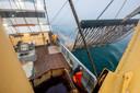 Pulsvissers aan het werk op de Noordzee.