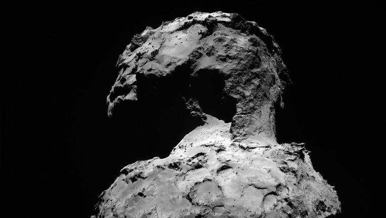 De ruimterots Churyumov-Gerasimenko waarop Philae is geland. Beeld EPA