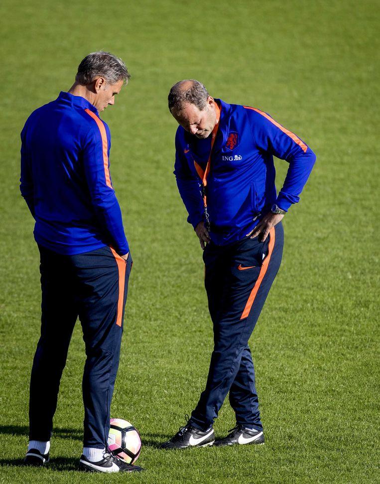 Marco van Basten en Danny Blind. Beeld anp