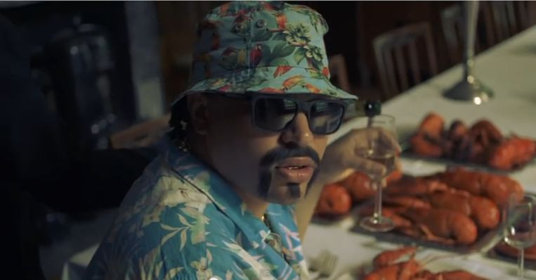 Fresku in zijn clip 'Kreeft' Beeld