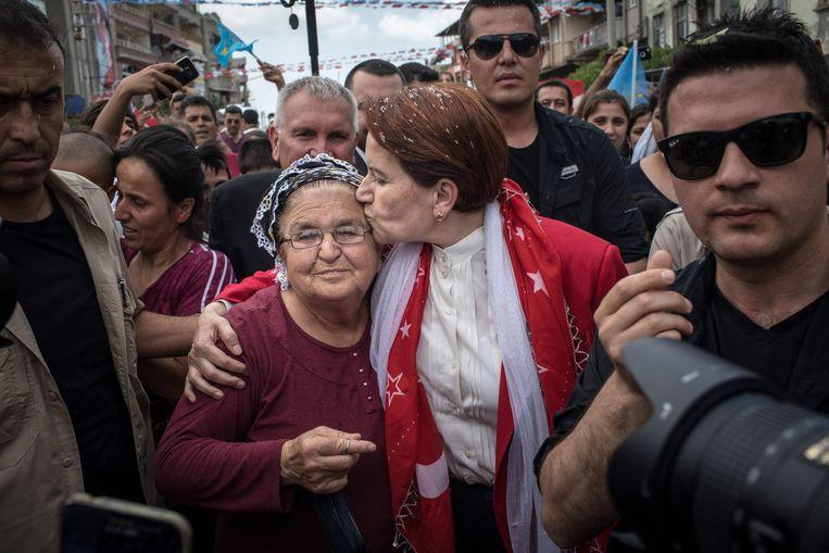 'IJzeren Dame' Meral Aksener van de Goede Partij (IYI).