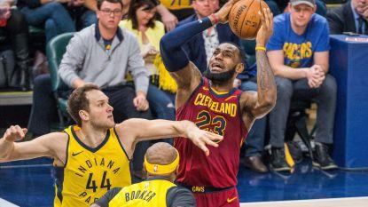 James hangt bordjes in evenwicht tegen Indiana, San Antonio klopt Golden State