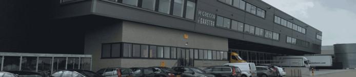 Het pand waar voorheen het distributiecentrum van McGregor zat.