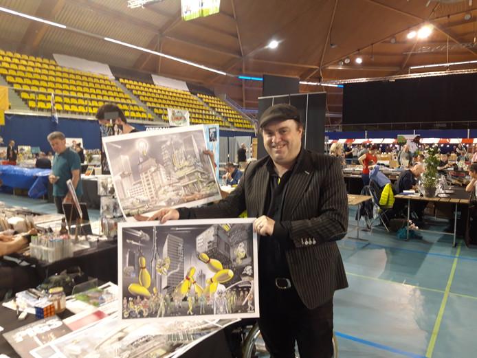 De stad speelt een prominente rol in de tekeningen van Eindhovenaar John Heijink
