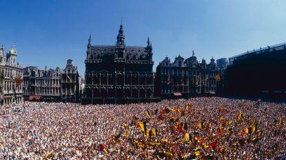 Rode Duivels vanaf halve finale gehuldigd op balkon Brusselse Grote Markt