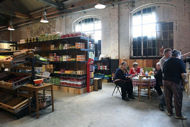 Binnenzijde Hal 5 in de Centrale werkplaatsen in Kessel-Lo.