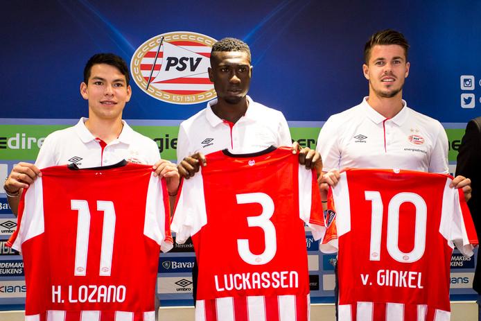 Het nieuwe trio van PSV.