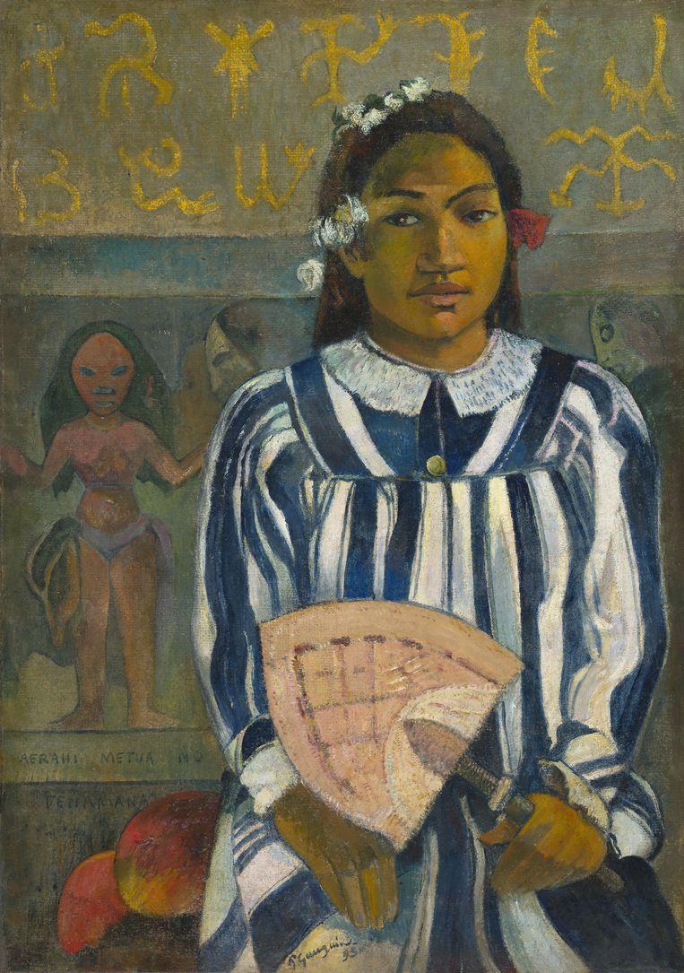 'Merahi metua no Tehamana (Tehamana Has Many Parents or The Ancestors of Tehamana)', Paul Gauguin (1848-1903),  1893. Beeld Collectie Art Institute Chicago