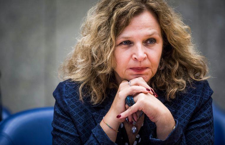 DEN HAAG - Minister van VWS Edith Schippers voor aanvang van het debat over het eigen risico. FREEK VAN DEN BERGH Beeld null