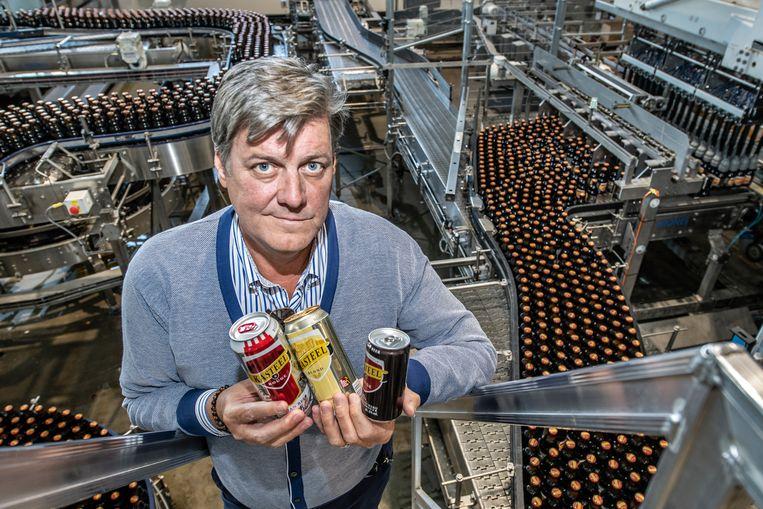 Brouwer Xavier Van Honsebrouck gaat investeren in een nieuwe blikkenlijn om het buitenland te veroveren.