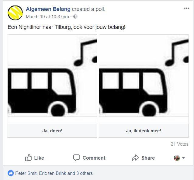 'Nee' tegen Nachtbus is niet mogelijk.