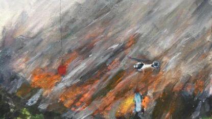"""""""Trots en sprakeloos"""": schilderij dat jongetje (11) maakt van bosbranden in Nelson gaat viraal"""