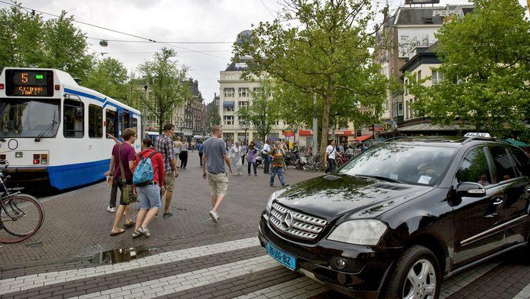De standplaats op het Leidseplein. © anp Beeld