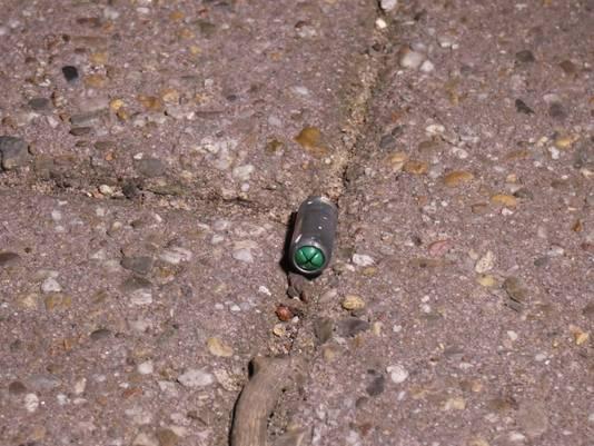 Een van de gevonden kogelhulzen in Nijmegen.
