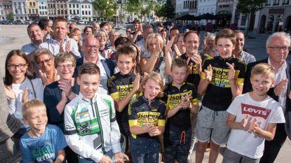 Tweevoudig Vlaams wielerkampioen Milan Van den Haute feestelijk ontvangen in stadhuis
