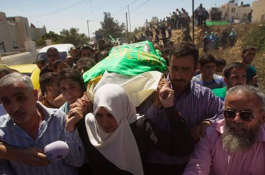 Funérailles des deux militants du Hamas à Hébron.