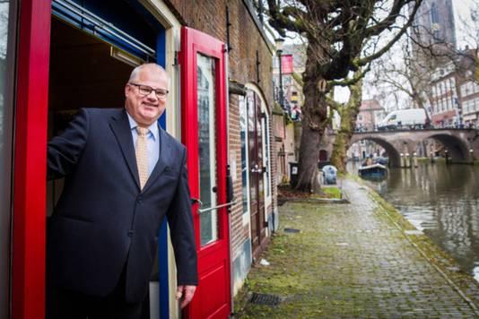 Rector Frans van Heijningen heeft zijn kamer aan de werfkelder: 'Als de cijfers niet goed zijn, vragen we wat eraan schort.'