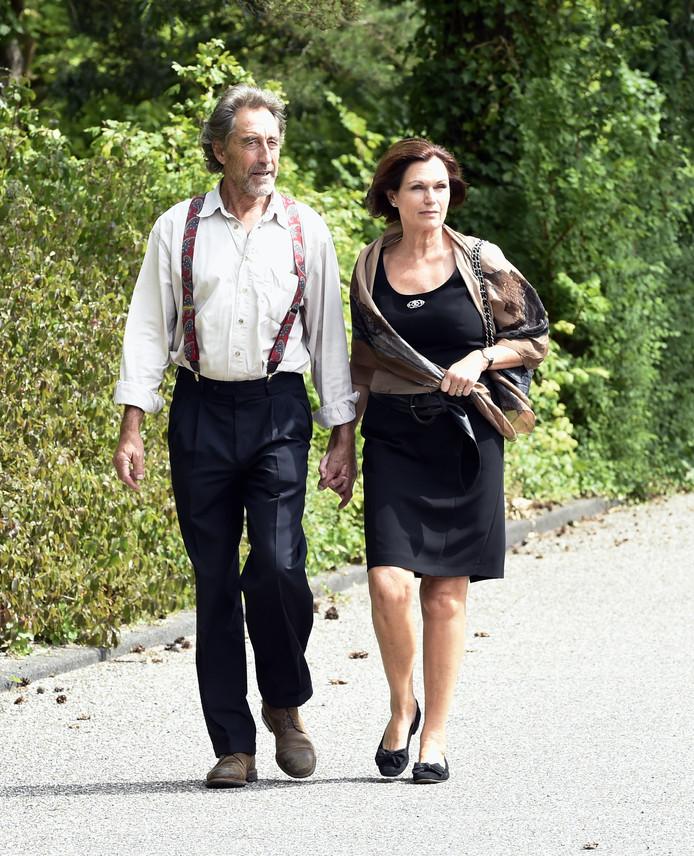 Liz Snoijink met haar man.